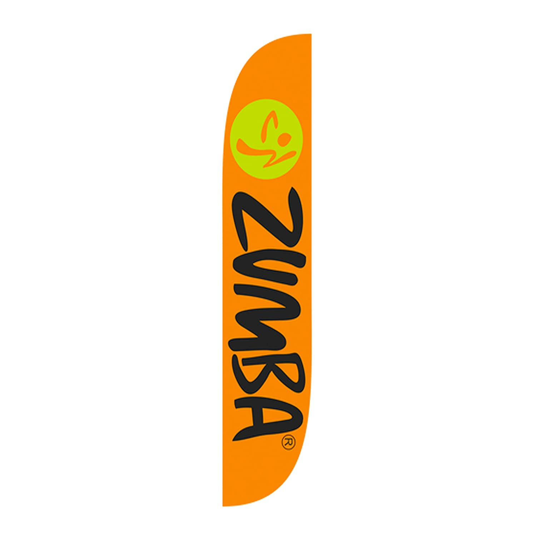 LookOurWay Zumba Fitness Feather Flag Orange Guerrilla Packs 10M1200161