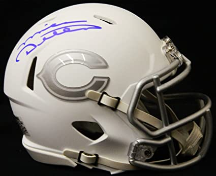 b0d2727bb82 Image Unavailable. Image not available for. Color  Mike Ditka Signed Chicago  Bears White Ice Riddell Speed Mini Helmet