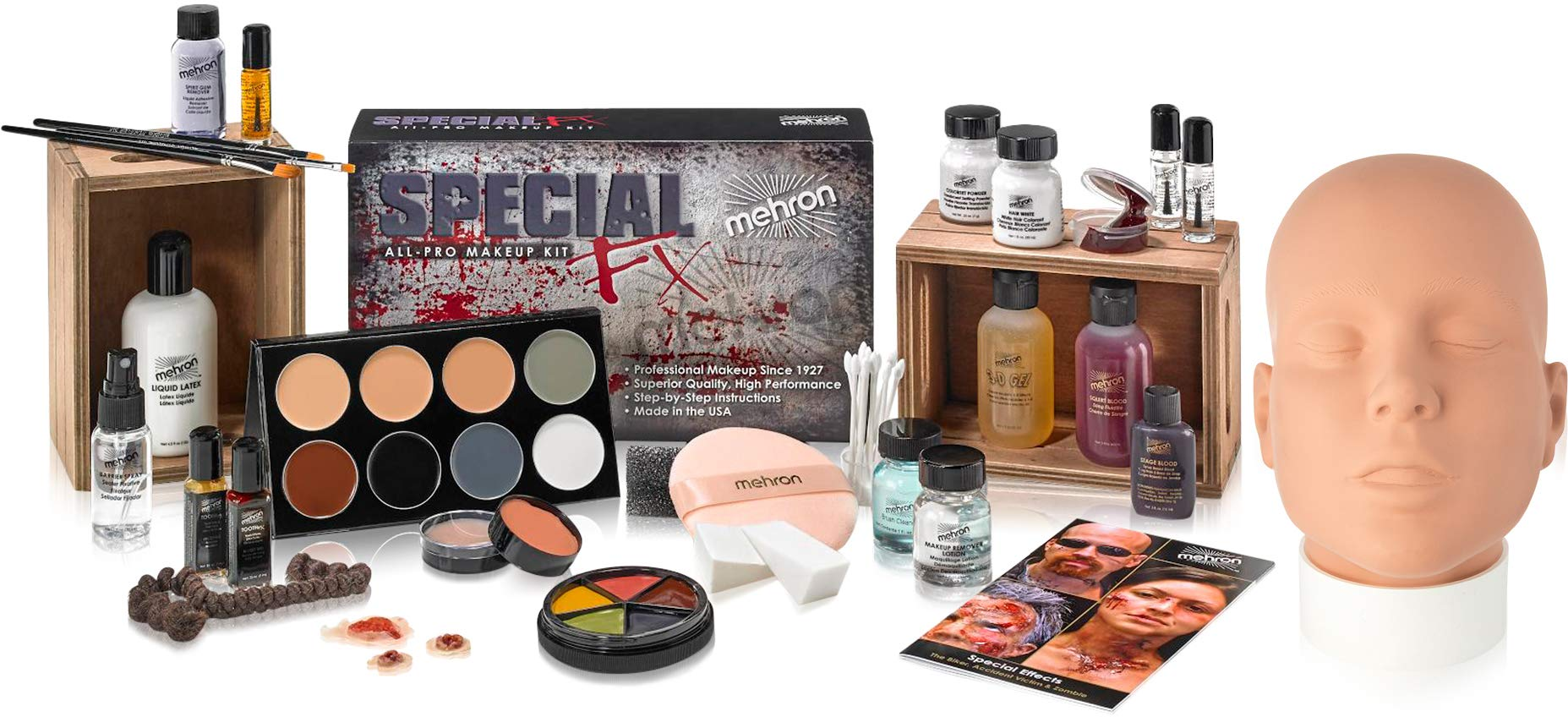 Mehron Makeup Holiday Special FX Set (Practice Head Included)