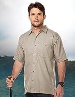 Tri-mountain Mens 60% Cotton/40% Polyester W702-KHAKI
