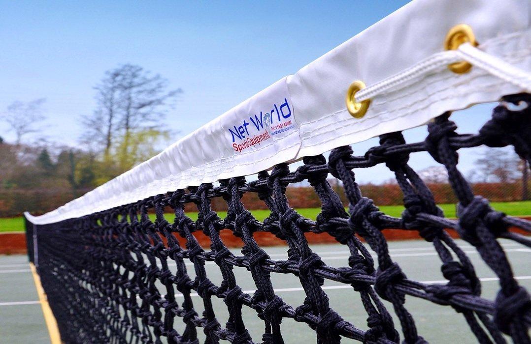Tennis Net - 3.5mm Double Top *Highest/Best Grade of Tennis Net Available* [Net World Sports] by Net World Sports
