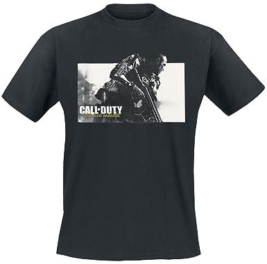 Call Of Duty Advanced Warfare - Key Art Logo T-Shirt schwarz M