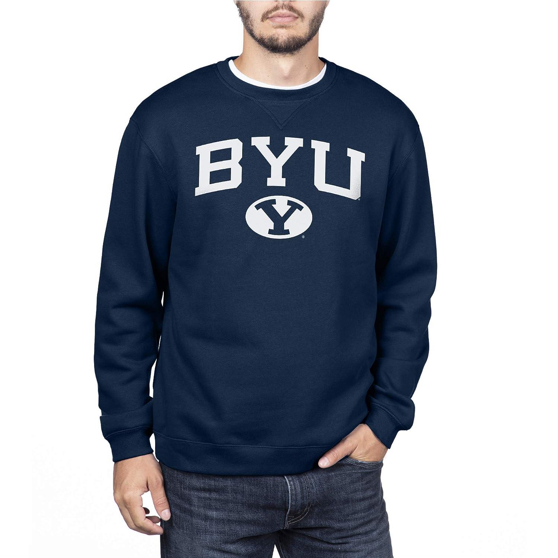 Medium Navy NCAA BYU Cougars Mens Team Color Crewneck Sweatshirt