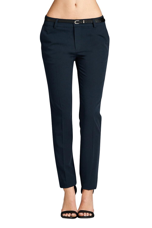 Ollie Arnes Women's Classic Stretchy Plus Size Formal Dress Pants Slacks