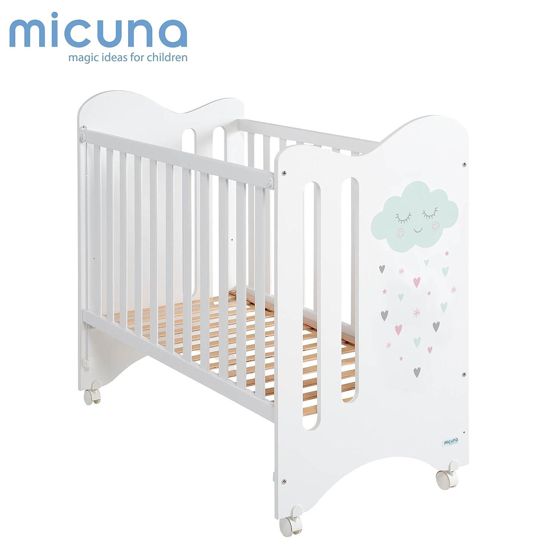 Cuna Lovely Premium con L/ámpara Quitamiedos Unicornio Blanco