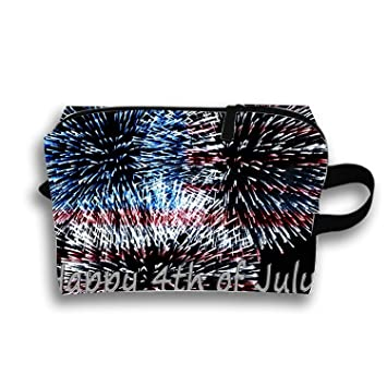 00d4912c8d20 Amazon.com : Cosmetic Bags Travel Portable Makeup Pouch 4th Of July ...