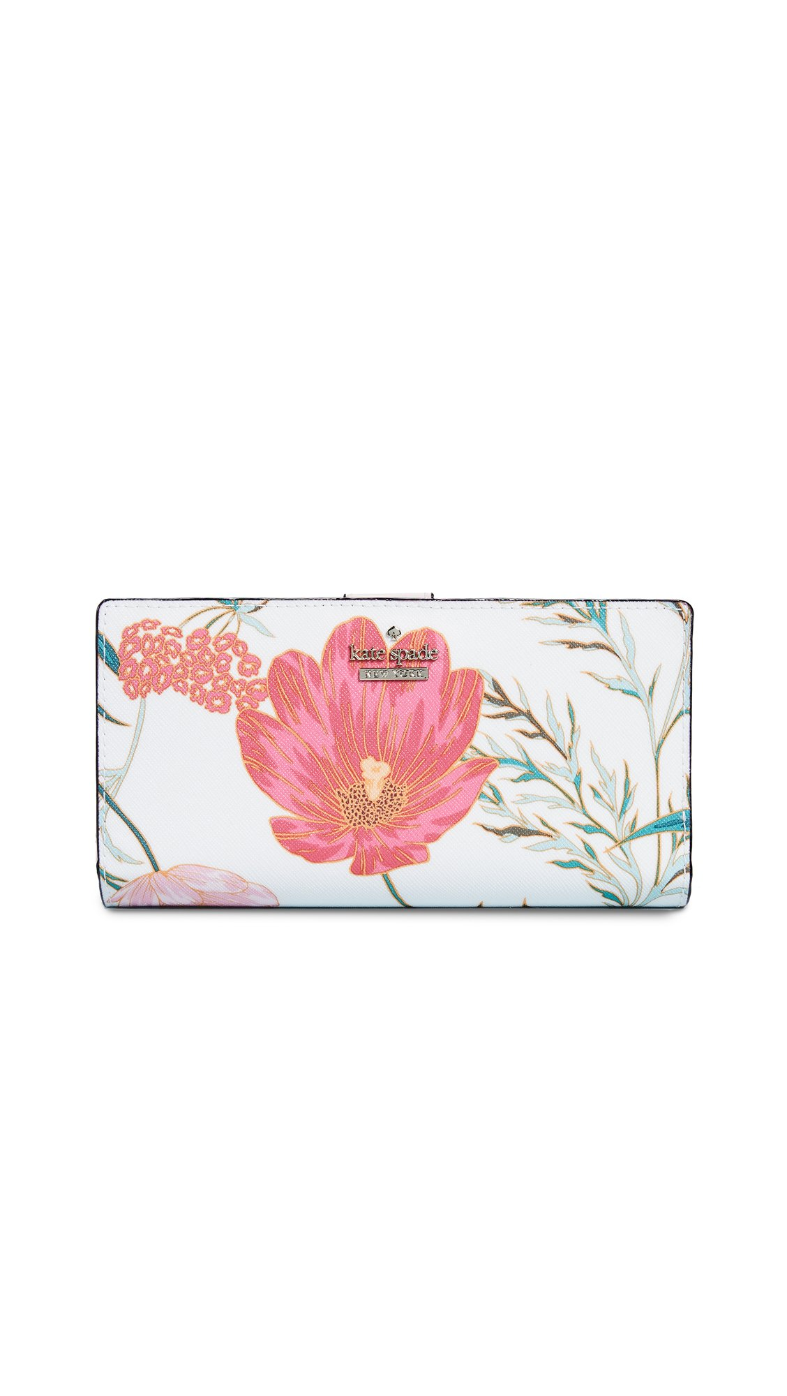 Kate Spade New York Women's Stacy Snap Wallet, Cream Multi, One Size