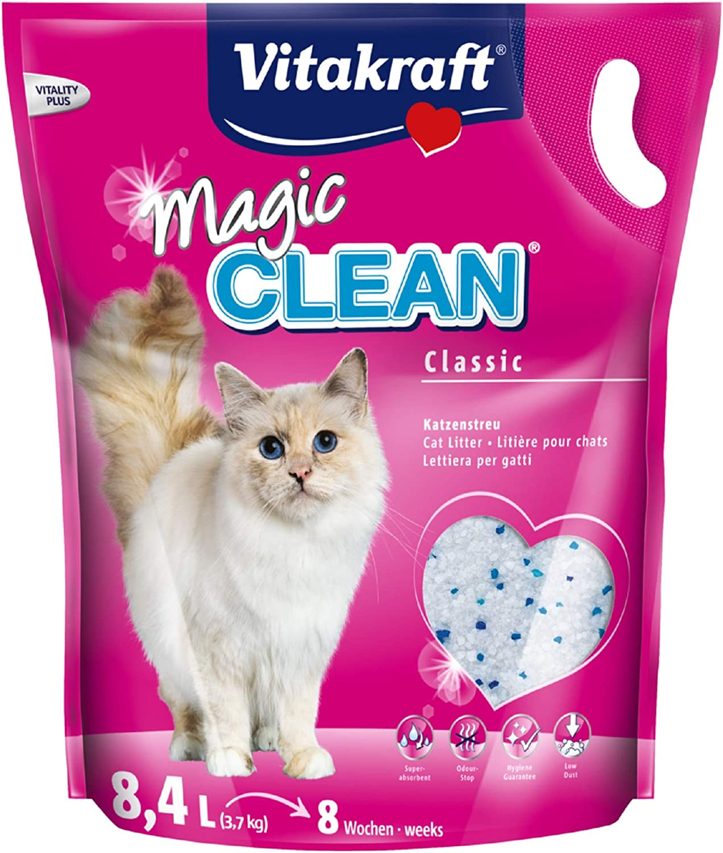 Vitakraft Magic Clean 15526Arena para Gatos, duración de 8semanas, 8,4L.