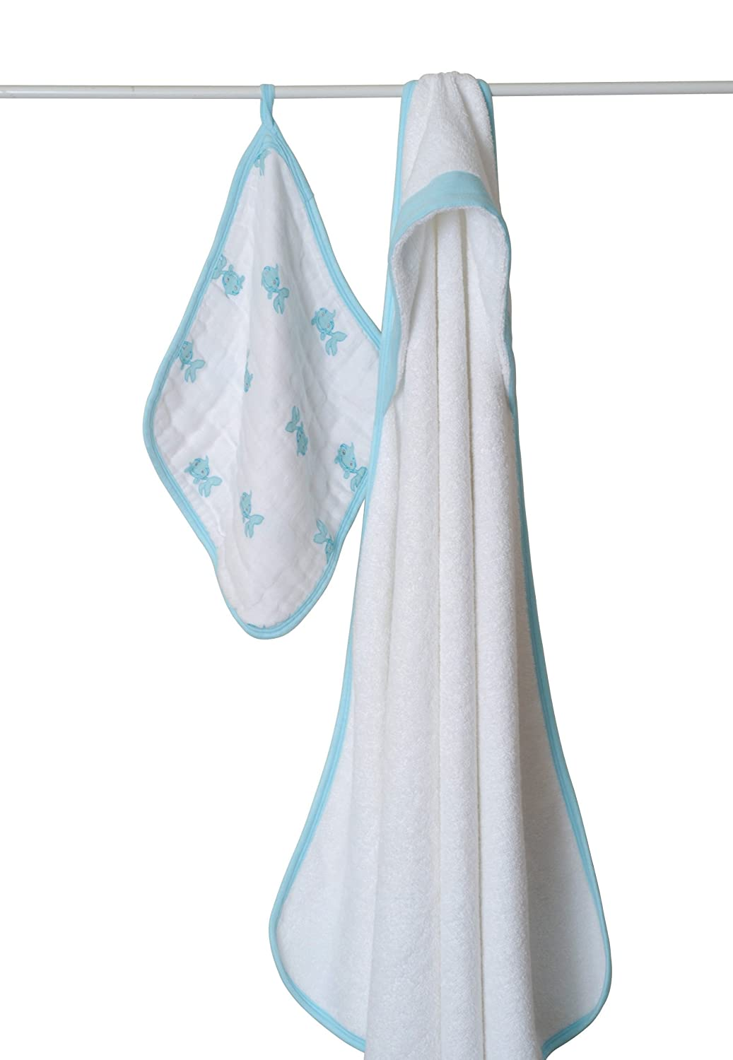 Aden and Anais Heartbreaker  hooded Towel /& washcloth sets  New