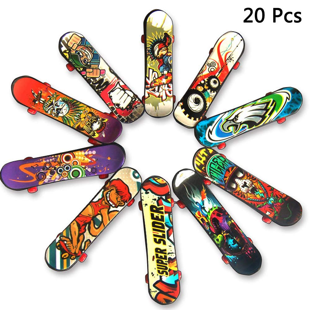 Finduat Mini Fingerboards Finger Skateboard Toy Creative Fingertips Movement Party Favors Novelty Toys for Kids Party Supplies Props Decoration 20 Pack Random Color