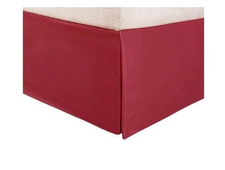 Smoothweave 14インチTailoredベッドスカート赤で B07CR4B1P8