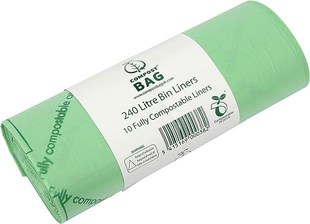 All-Green - Bolsas de Basura biodegradables y compostables (240 l ...