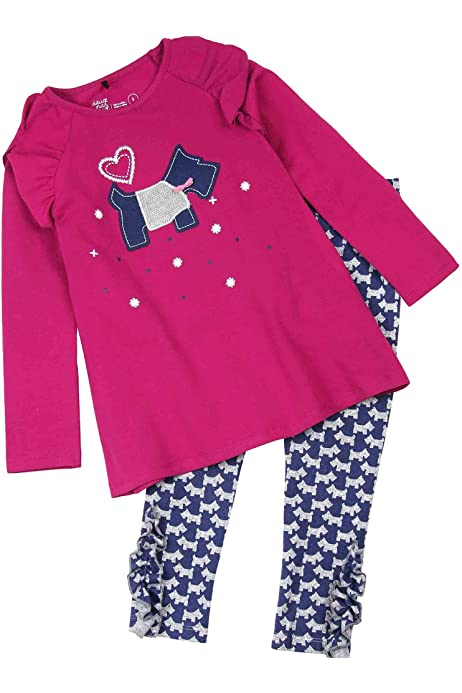 Deux Par Deux NWT Tunic /& Legging Set Baby /& Toddler Preppy Chic Pink 3 Seasons