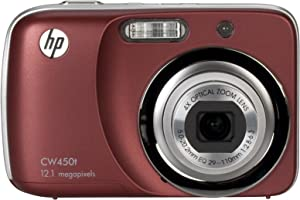 HP CW450T 12 MP Digital Camera with 4X Optical Zoom and 2.7-Inch Touchscreen LCD (Merlot)
