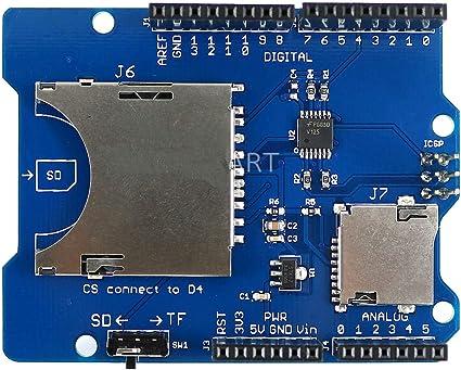 Amazon.com: HiLetgo blindaje para tarjeta SD apilable, para ...
