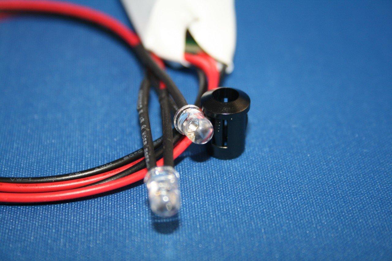 Twin Flashing Red 5mm Led Alarm Cctv Dummy Diy Tools Wiring Adt Bell Box