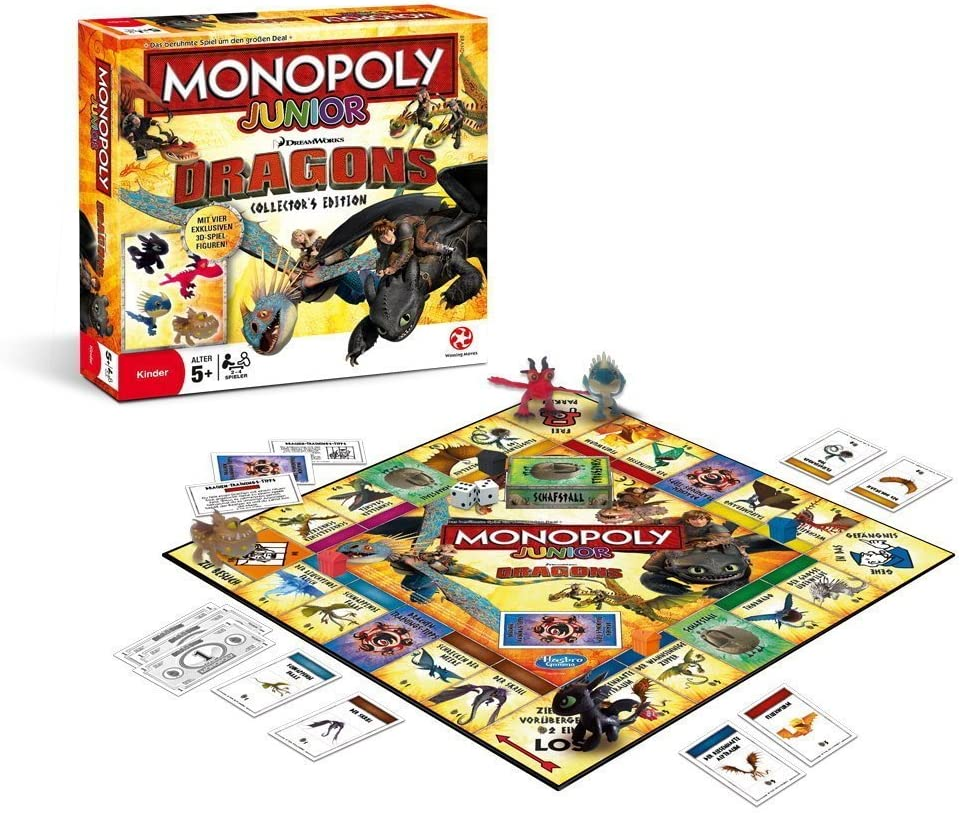 Winning Moves win44161 – Monopoly Junior de Dragons Collectors Edition Parte: Amazon.es: Juguetes y juegos