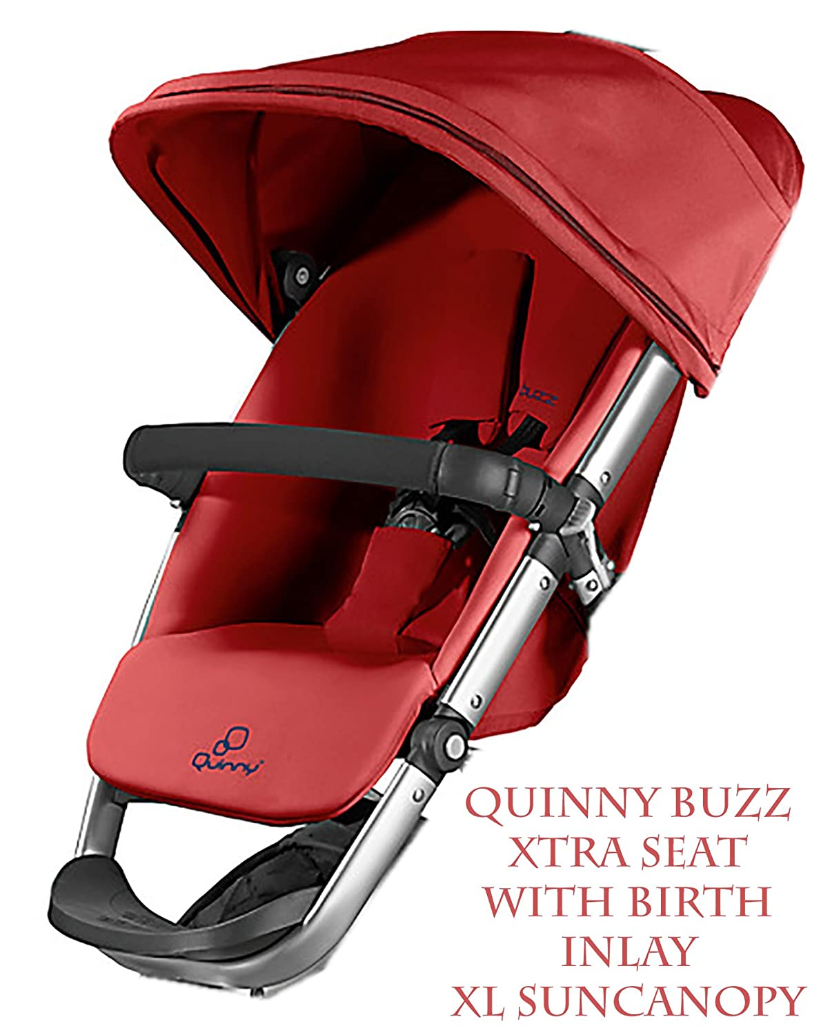 New Quinny Buzz Xtra Seat unit and inlay from birth to 3 years incl Sun Canopy