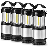 Odoland 4 Pack LED Lantern, 2-in-1 300 Lumen LED Camping Lantern Handheld Flashlights, Camping Gear Equipment for…