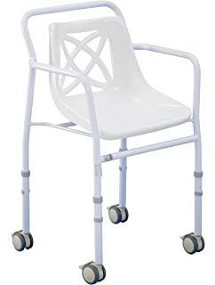 patterson medical wheeled height adjustable shower chair eligible for vat relief in the uk