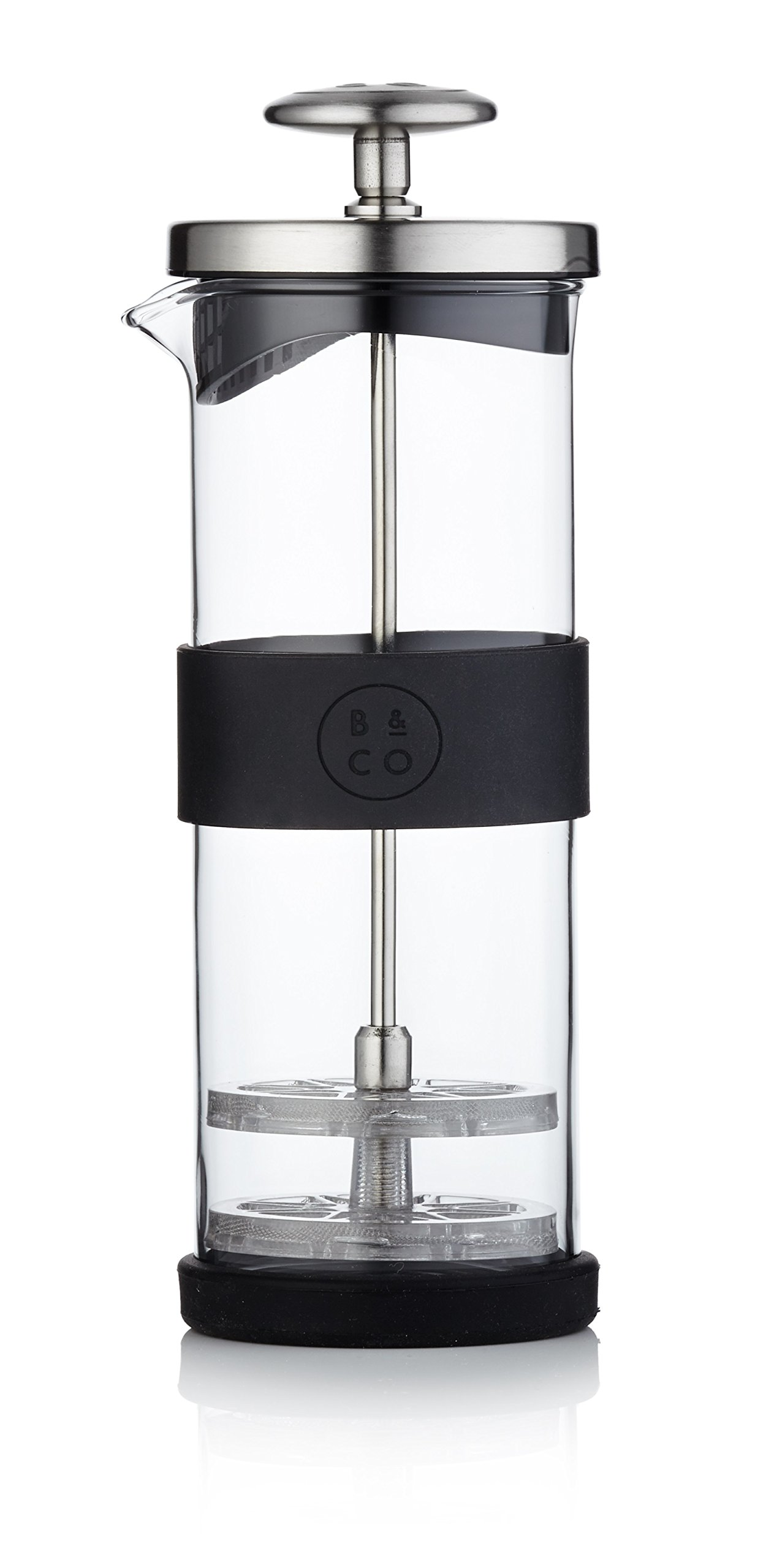 Barista & Co - Milk Frother with Silicone Grip - Electric Steel