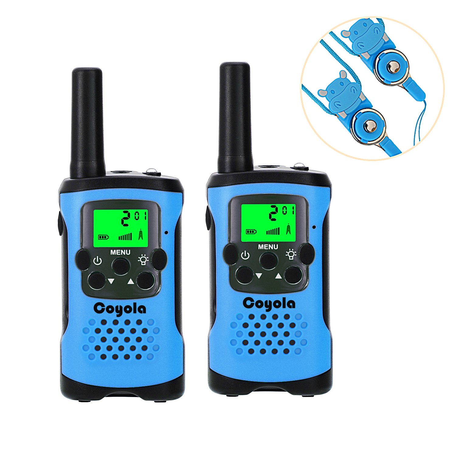 Favorest Walkie Talkies for Kids, Super Easy to Use 4 Miles Long Range Kids Walkie Talkies, 22 Channel 2 Way Radios Toys for Boys Girls Outdoor Adventures with Flashlight and Lanyard (Blue)