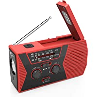 [New Version] Esky Solar Crank NOAA Weather Radio for Emergency with AM/FM, Flashlight, Reading Lamp and 2000mAh Power Bank