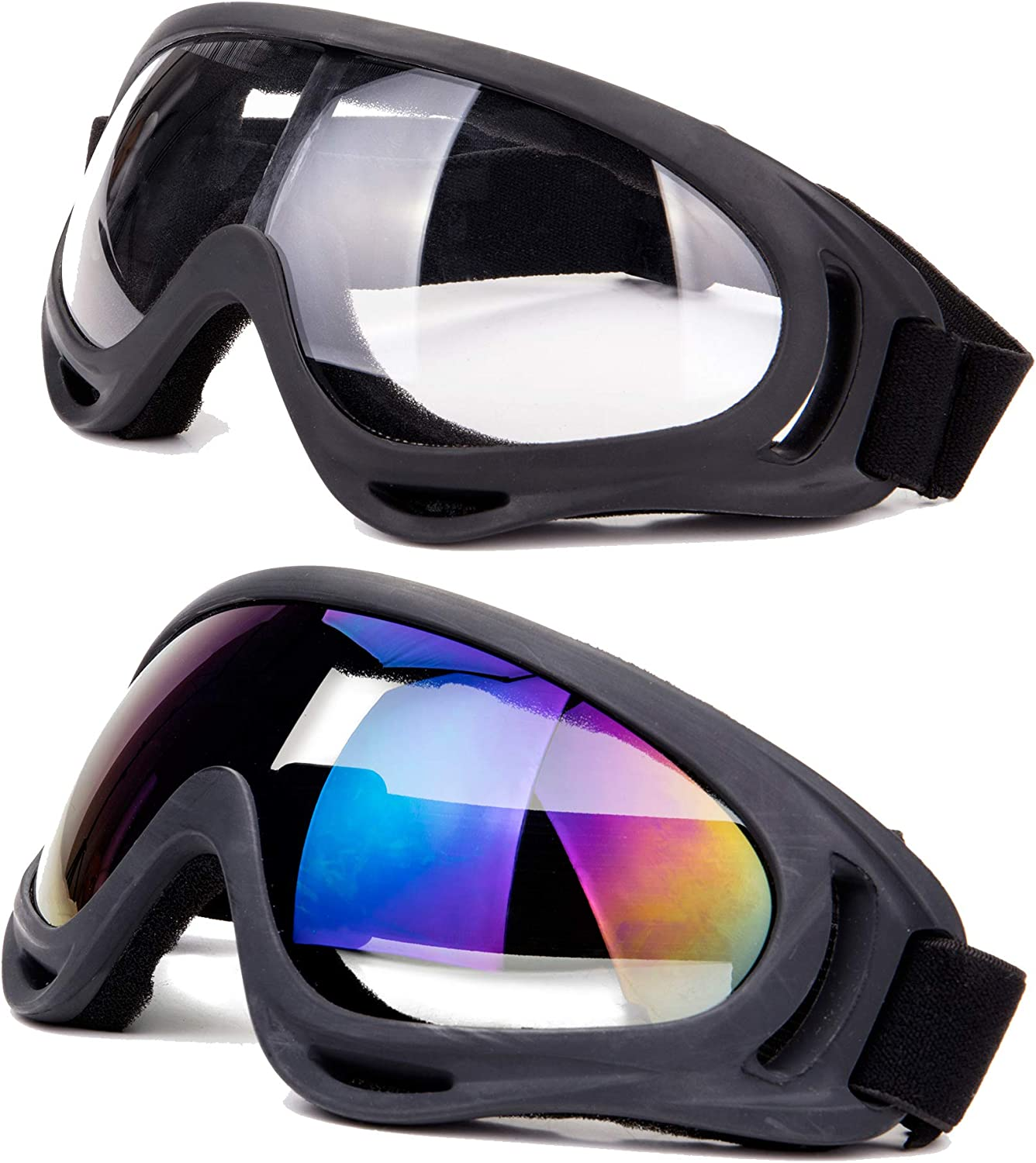 SLTY Sports Ski Snowboard Skate Goggles Motorcycle Off Road Glasses with UV 400 Protection,Anti-Fog,Wind Resistance Goggles for Men Women & Youth