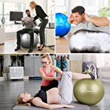 Trideer Exercise Ball (Multiple Color), Yoga