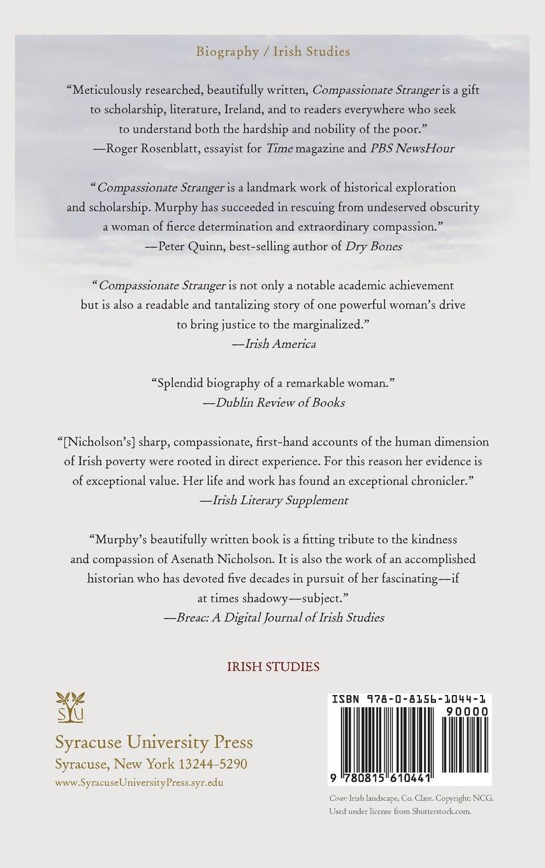 Amazon:passionate Stranger: Asenath Nicholson And The Great Irish  Famine (irish Studies) (9780815610441): Maureen O'rourke Murphy: Books