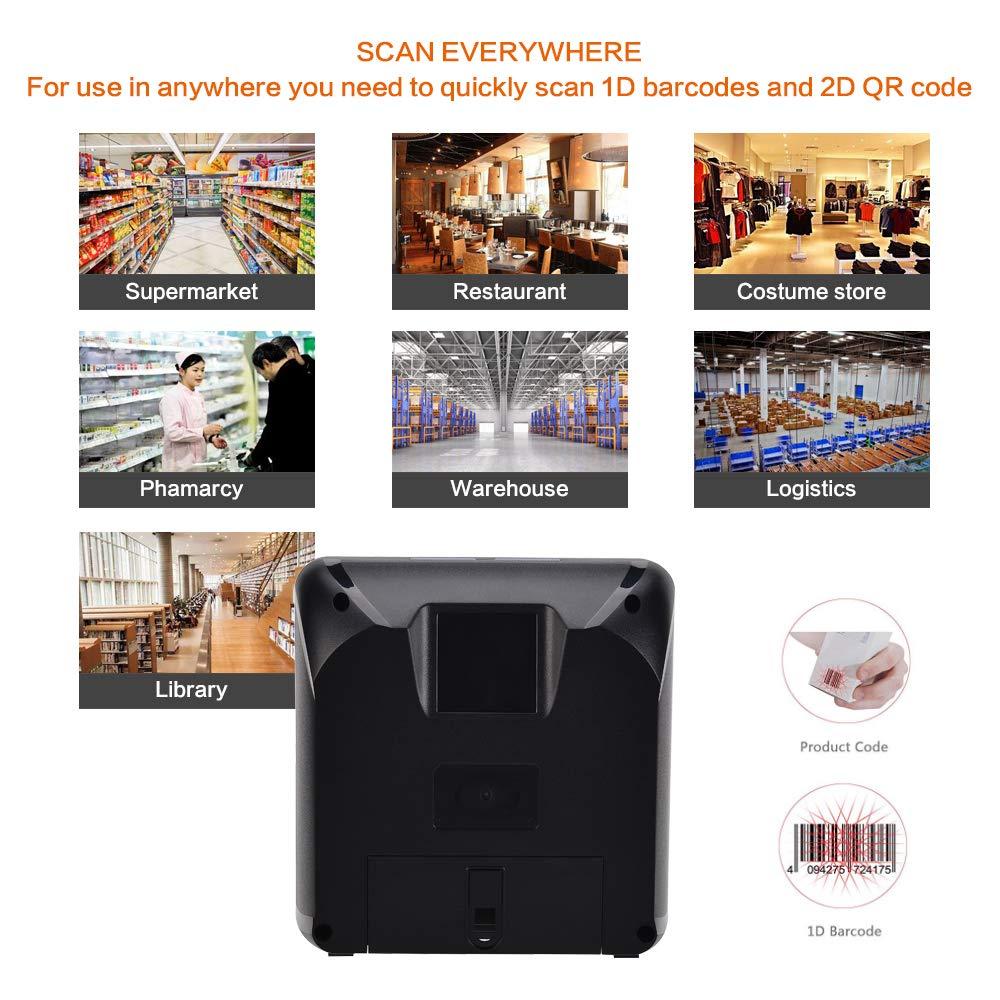 LENVII 1D Laser Topspeed Desktop Barcode Scanner Scanning Platform,1500 Scans//sec 1D Barcode Reader Automatic Supermarket Handsfree Omnidirectional Desktop Retail Bar Code Scanning Platform