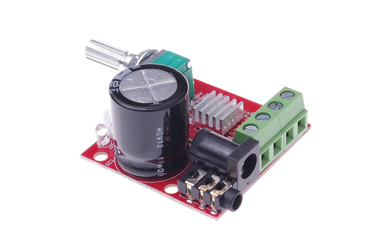 Smakn Mini Pc Digital Stereo Audio Amplifier Module 10w Hifi Power Amp Circuit Lm3886tf Small 2 Channel Class D 12 V Dc Home Theater