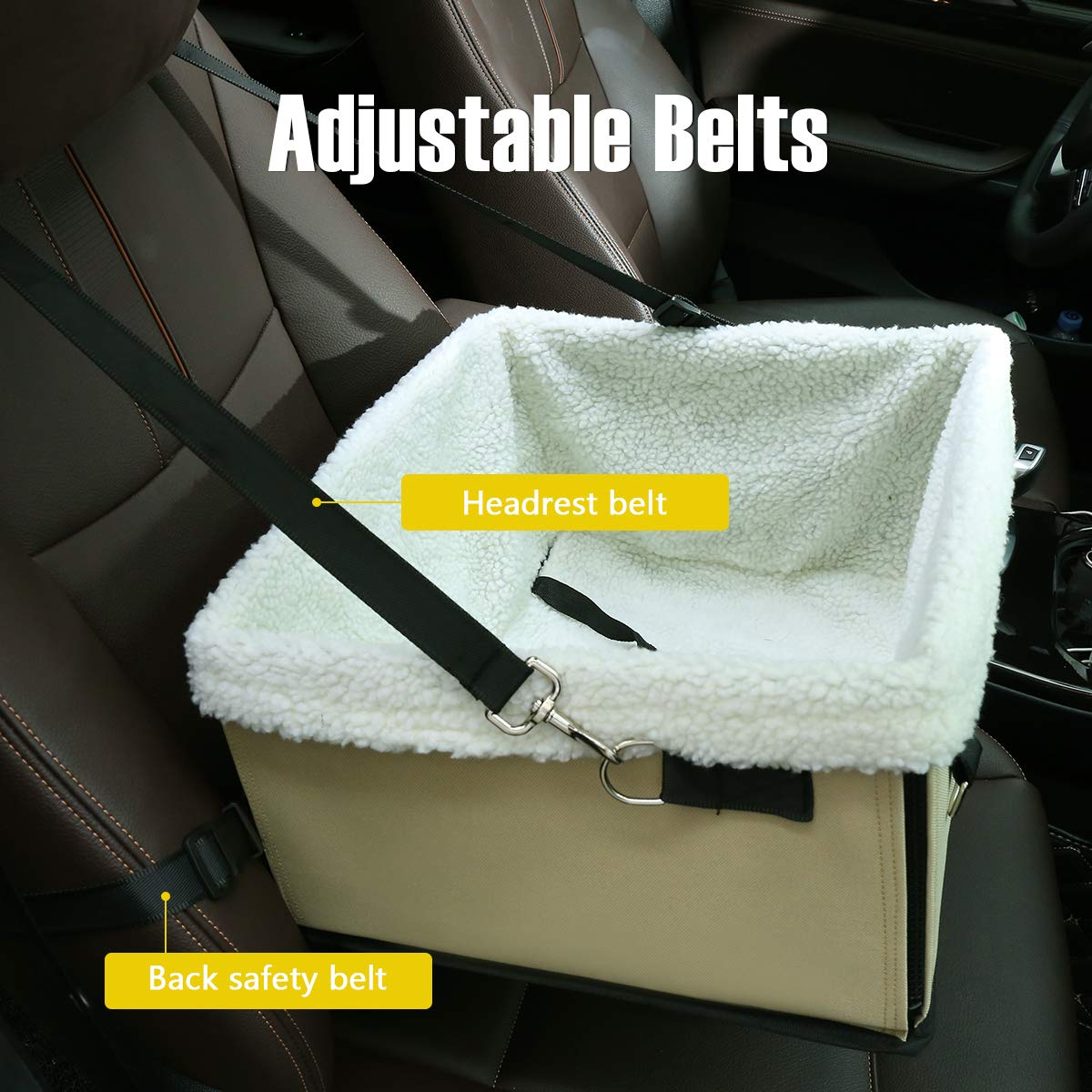 Dog Booster Car Seat Pet Travel Bag For Small Dogs Cats