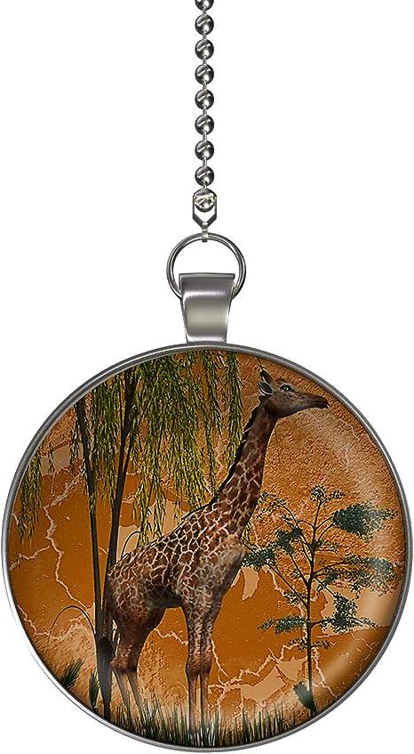 GRAPHICS /& MORE Cute Giraffe and Sky Zoo Animal Safari Ceiling Fan and Light Pull Chain