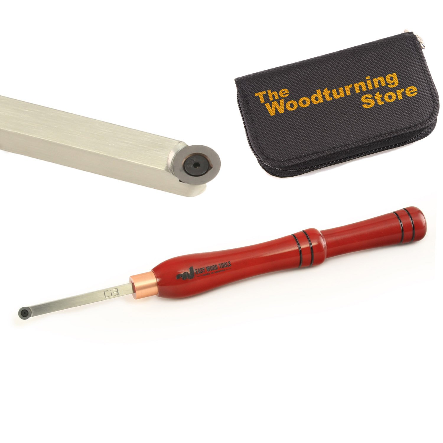 Easy Wood Tools, 6200, Mini Easy Finisher with BONUS Woodturning Store Carbide Cutter Holder