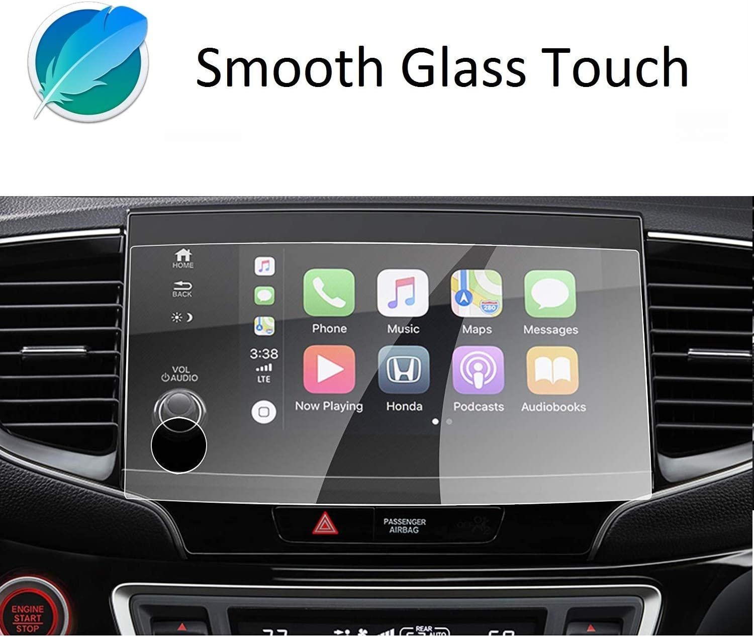 Anggy Tempered Glass Screen Protector Compatible with Honda Pilot Passport 2019 2020,Precise cutting,High Quality Accessories for Honda Pilot Passport