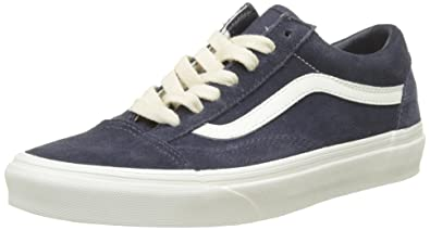 4e74c044fe Vans Adults  Old Skool Suede Trainers Blue (Herringbone Lace Navy  Marshmallow)