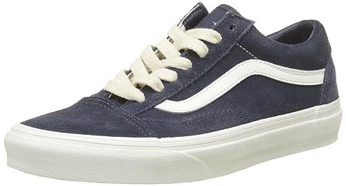 Vans U Old Skool - Zapatillas, Unisex Adulto, Azul (Suede/Canvass), 37