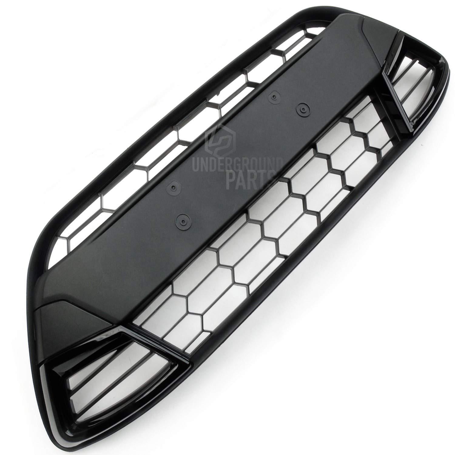 Underground Parts All Black Asian Style Honeycomb Front Bumper Grille UNDERGROUND PARTS LIMITED