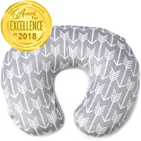 Minky Nursing Pillow Cover | Arrow Pattern Slipcover | Best for Breastfeeding Moms | Soft Fabric Fits Snug On Infant Nursing Pillows to Aid Mothers While Breast Feeding | Great Baby Shower Gift