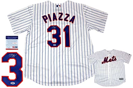 best website 867f0 c9d40 Mike Piazza Autographed New York Mets Majestic Jersey - PSA ...