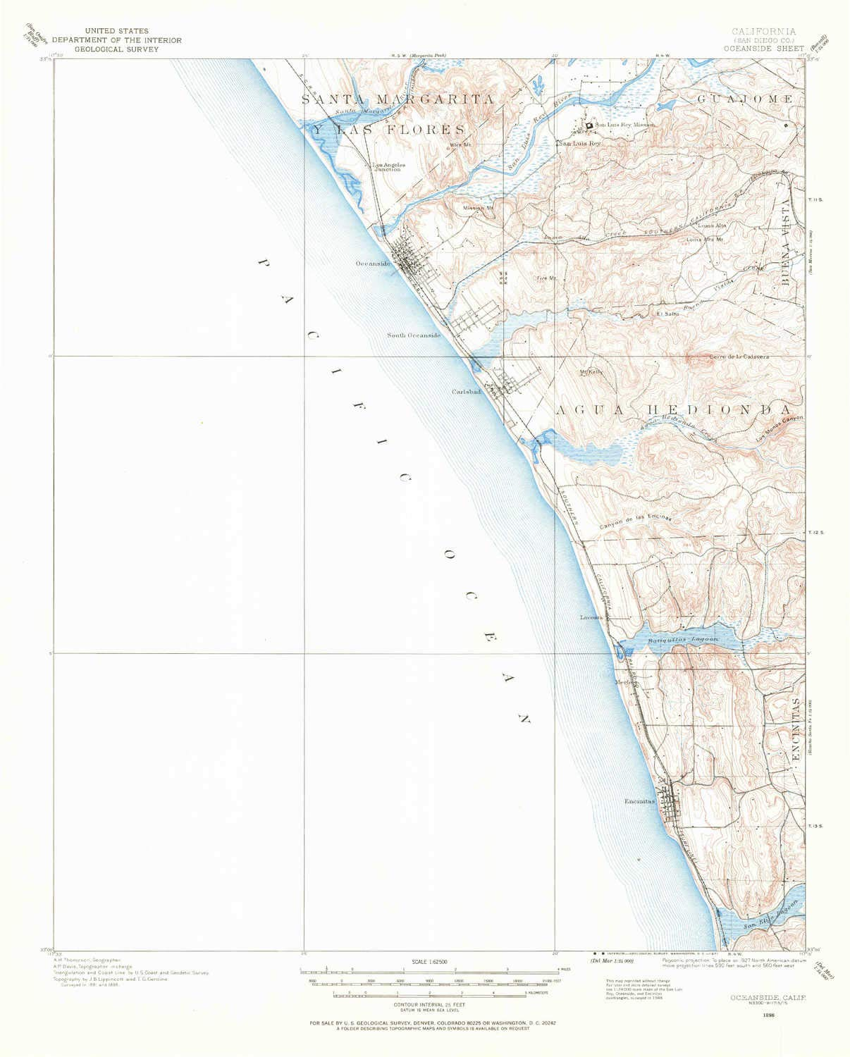 Updated 1971 YellowMaps Oceanside CA topo map 20.7 x 16.6 in 15 X 15 Minute 1898 1:62500 Scale Historical