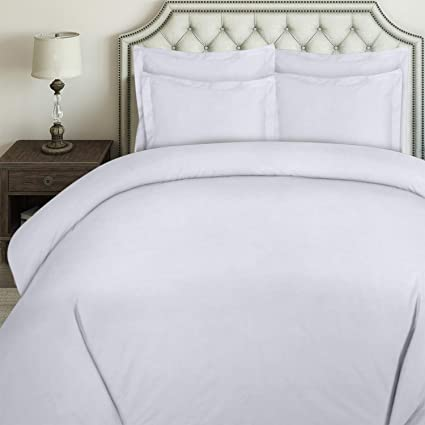 c885d622ff Amazon.com: Utopia Bedding 3pc Duvet Cover Set with 2 Pillow Shams, (Queen  White): Home & Kitchen