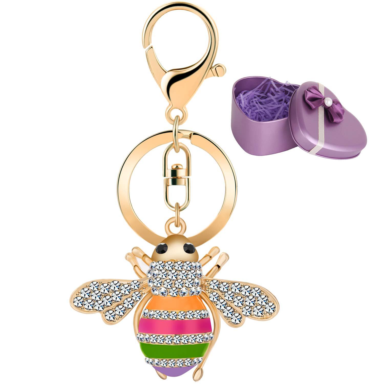 Amazon.com: Jodoo GJ017 - Llavero con diseño de abejas de ...