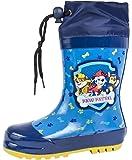 Paw Patrol Wellington Boots Tie Top Rubber Rain Wellies Size UK 5-11.5