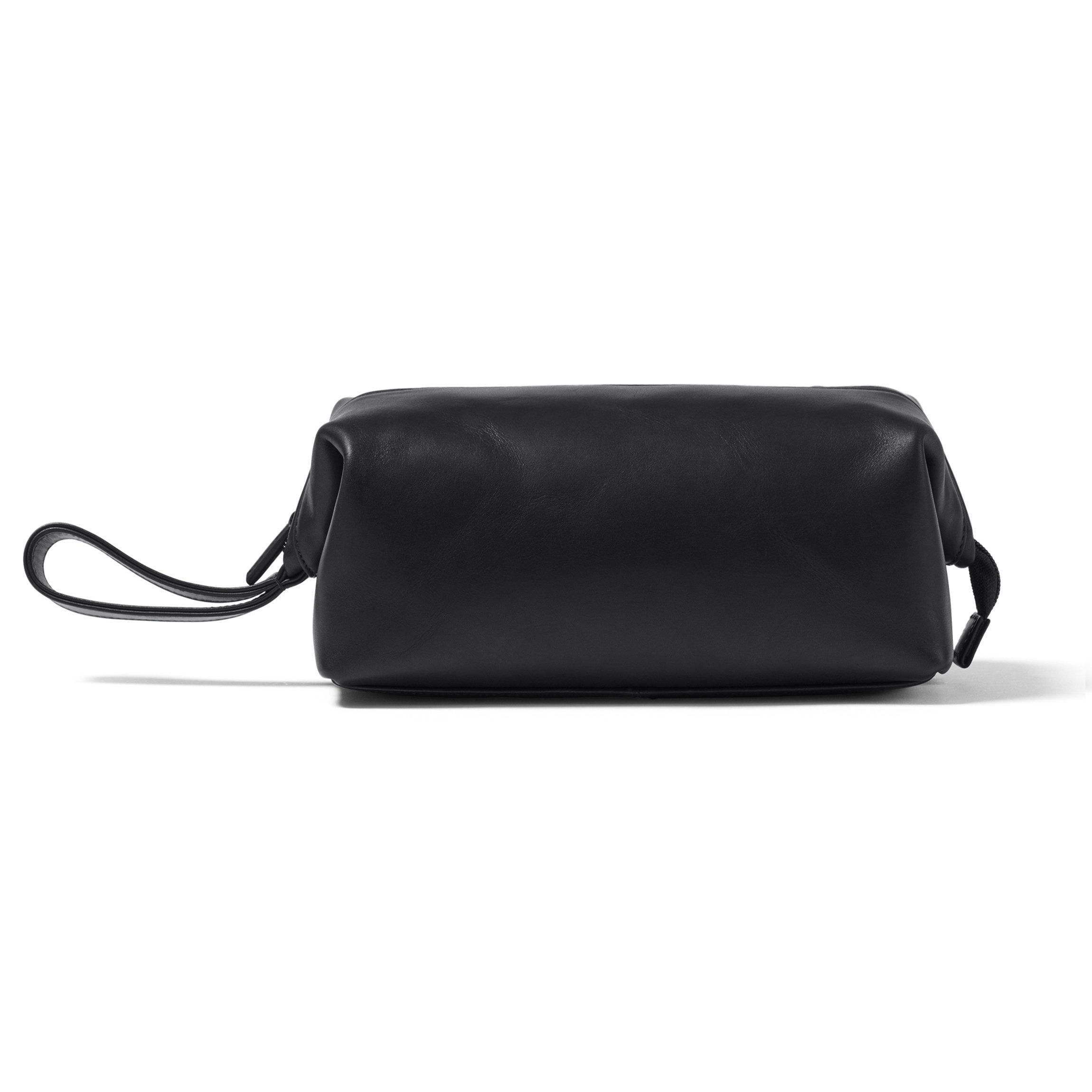 Leatherology Framed Toiletry Bag - Full Grain German Leather Leather - Black Oil (black)