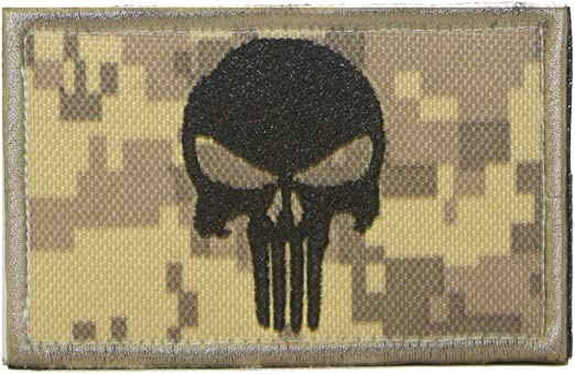 Cobra Tactical Solutions Punisher Skull Parche Bordado Táctico Militar Cinta de Gancho y Lazo de Airsoft Cosplay Para Ropa de Mochila Táctica: Amazon.es: Hogar