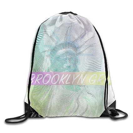 5403538bef Drawstring Backpack Art Design Print Rucksack Shoulder Bags Gym Bag Cute  Brooklyn Grit 2017 Slogan Statue