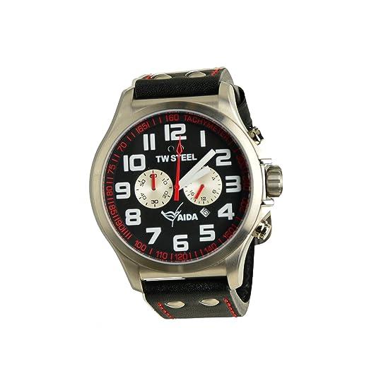 TW Steel Hombre Reloj de pulsera Pilot Aida Collection Cronógrafo Negro Fecha TW de 882 UVP 259eur: Amazon.es: Relojes