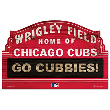 Mlb Chicago Cubs 11 By 17 Inch Go Cubbies Wood Sign